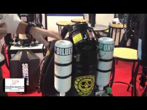 Eudi Show 2013 Aldo Ferrucci per ilsubacqueo.it: rebreather Megalodon e rebreather Hollis