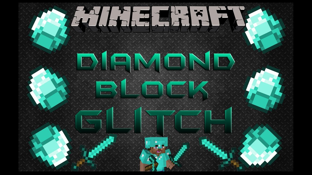 Minecraft Diamond Block Duplication Glitch 1 8 4 YouTube