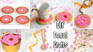 DIY Donut Crafts! Room Decor, Keychain, Snack + More