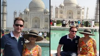 Preity Zinta visits Taj Mahal with husband Gene Goodenough
