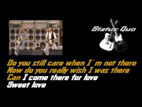 Status Quo - Caroline (Lyrics)