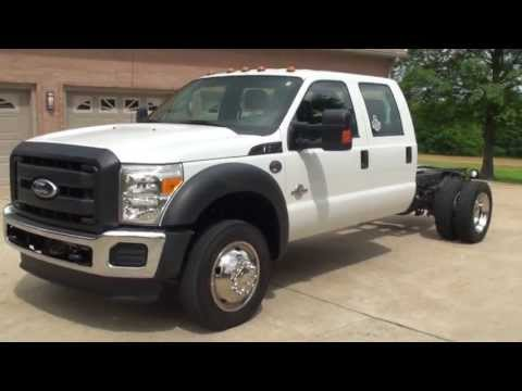 HD VIDEO 2011 FORD F550 CREW CAB 4X4 USED FOR SALE DIESEL SEE WWW SUNSETMILAN COM