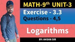 class 9 math chapter 3 exercise 3.3 Q4,Q5