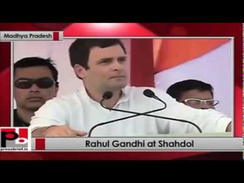 Rahul Gandhi 3 Idiots Chatur Moment: Bhrashtachar Ya Balatkar At Shahdol Rally video
