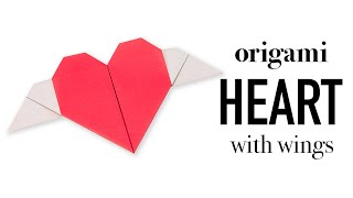 Origami Heart With Wings Tutorial ♥︎ DIY ♥︎