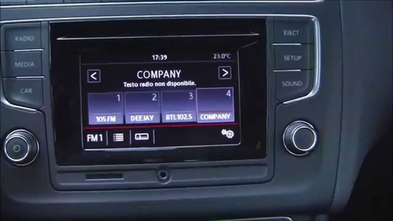 Composition Colour Infotainment Of Volkswagen Polo My 2014