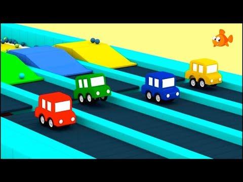 Cartoon Cars - Jumping Cars BLOCKS RACE! - Compilation Cartoons for Kids - Children's Animation