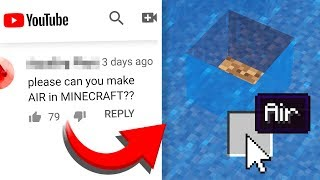 Turning COMMENTS into Minecraft CRAFTING RECIPES!