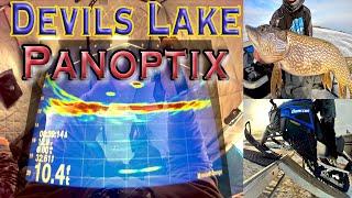 Devils Lake Walleye Fishing On Ice Cold Panoptix