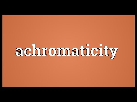 Header of achromaticity