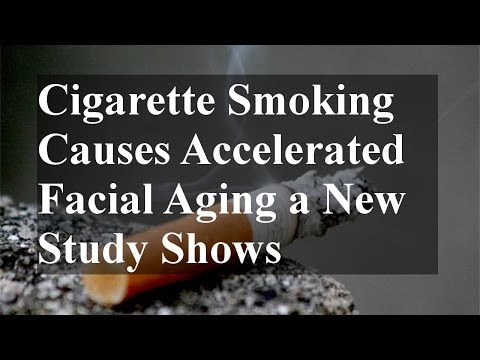 Cigarette Smoking Causes Accelerated Facial Aging a New Study Shows