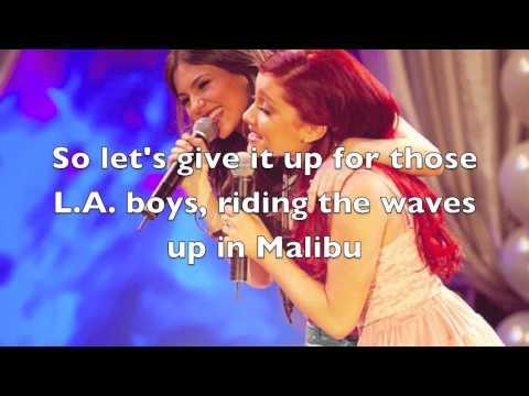 Victorious   Victoria Justice ft Ariana Grande   LA Boyz Official Audio + Lyrics
