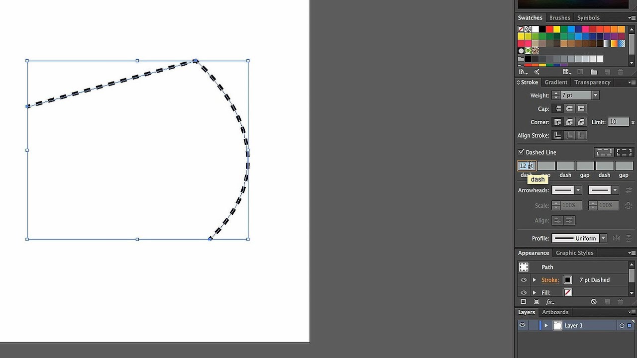 Drawing Lines With Adobe Illustrator : How to create a dashed line adobe illustrator youtube
