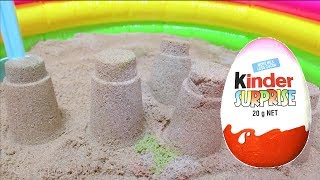 Baby Doli sand Surprise Toys / Learn colors nursery rhymes / Indoor playground