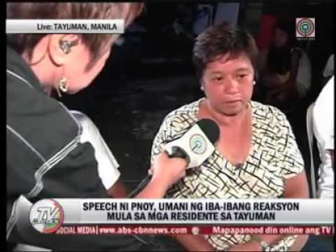 Peoples Reaction to Pres. Benigno S. Aquino SONA