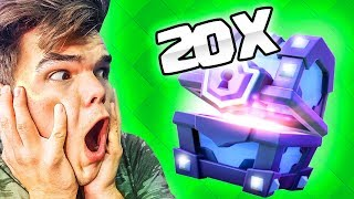 OPENING 20 SUPER MAGICAL CHESTS! (Clash Royale)