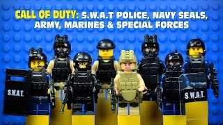 LEGO Call of Duty: SWAT Police Navy Seals Army Marines & Special Forces Minifigures Set 2
