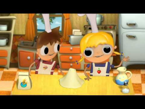 Pan con Chocolate - recetas para niños con Telmo y tula, dibujos animados