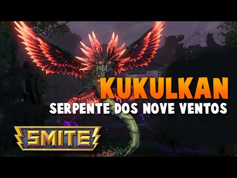 SMITE BRASIL - KUKULKAN Serpente dos nove ventos! BUILD + GAMEPLAY!
