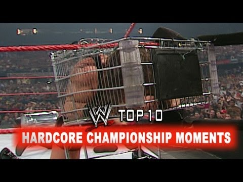 Before Extreme Rules, WWE went Hardcore with the Hardcore Championship. Relive the top 10 moments involving the title. More WWE - http://www.wwe.com/