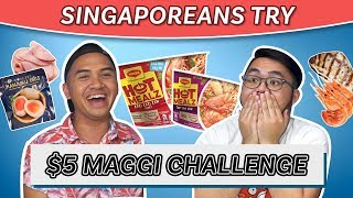 Singaporeans Try: $5 Maggi Instant Noodle Challenge