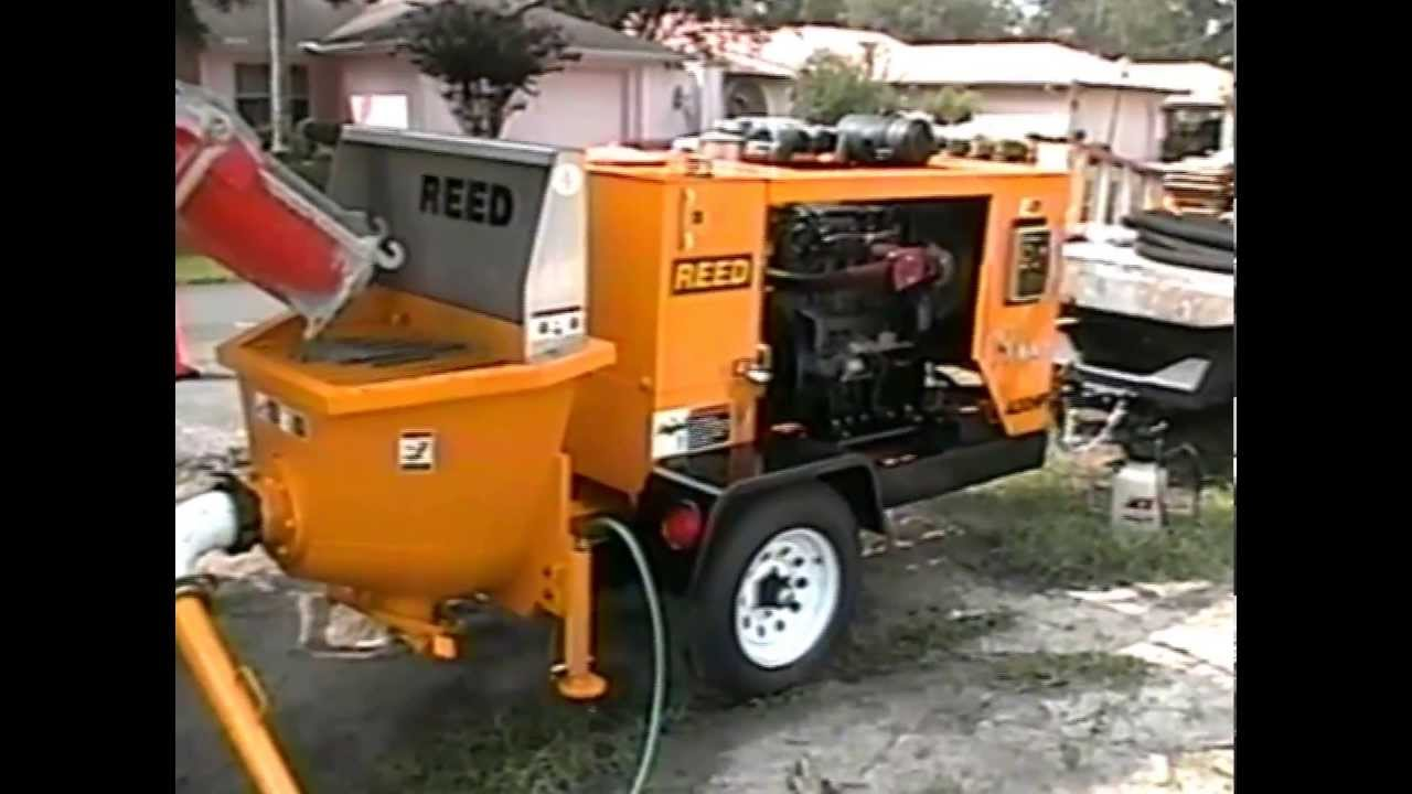 Reed A30hp Rockmaster Concrete Pump Youtube