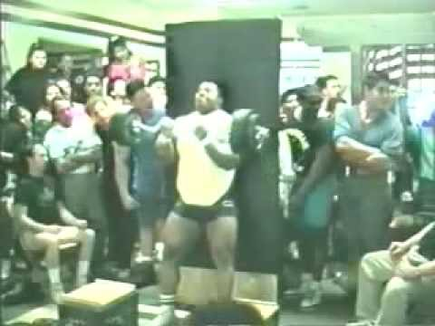 Classic CT Footage from the early days!  Setting records!  Bench Press, Strict Curl.