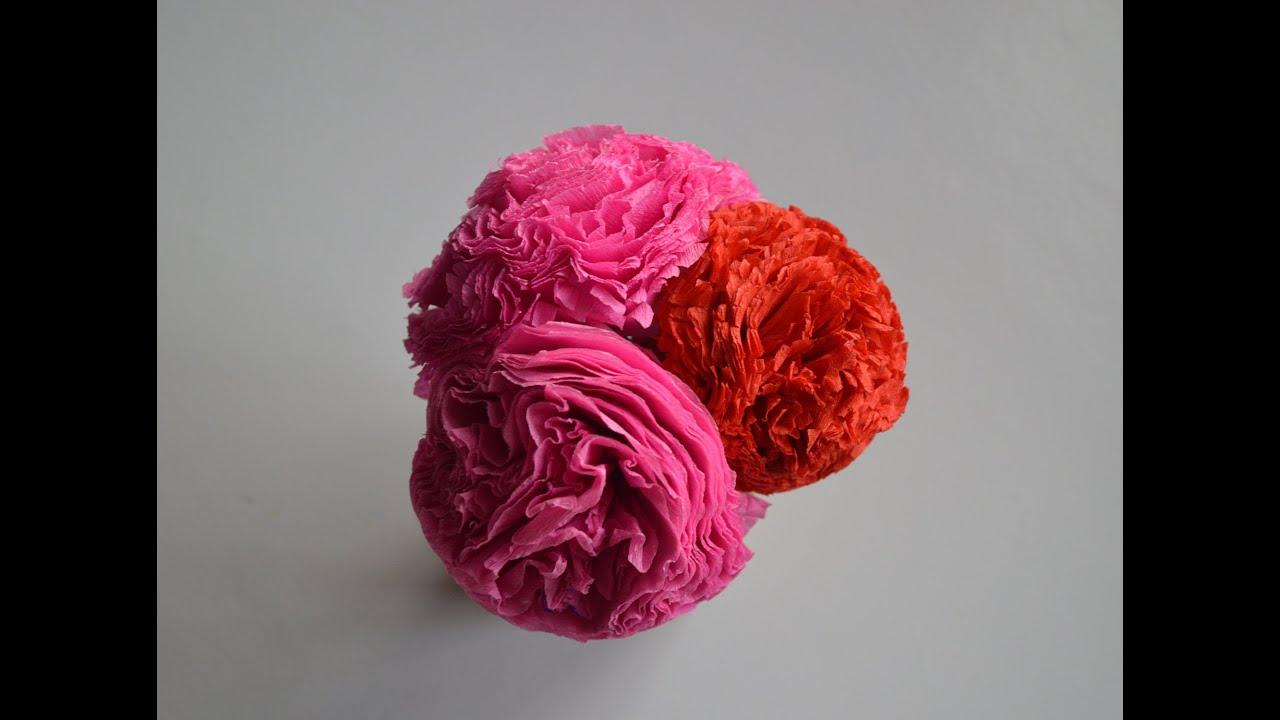 Как сделать гвоздику из бумаги цветок с