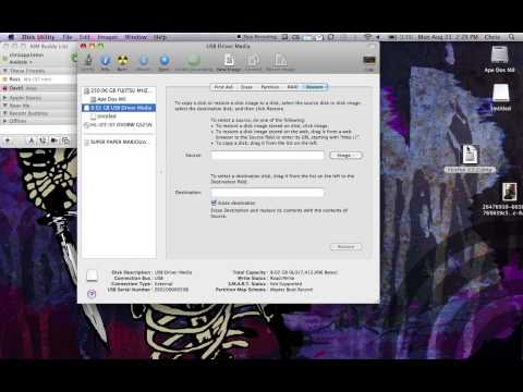 How to Install Snow Leopard DMG from a Flash Drive Mac Only