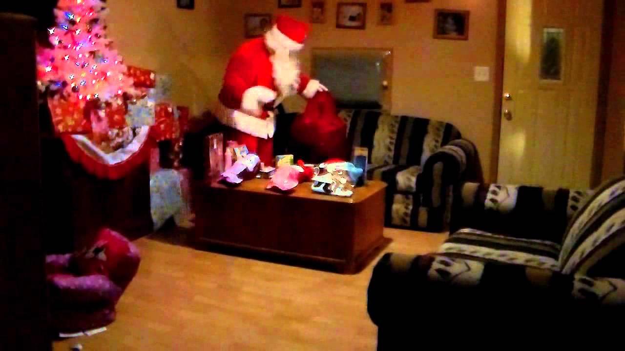Real Santa Caught On Video 2012 Youtube