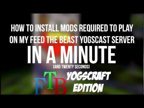 How to Install Mods to FTB Yogcraft IN A MINUTE