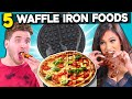 5 Crazy Waffle Iron Experiments #2 | People Vs. Food