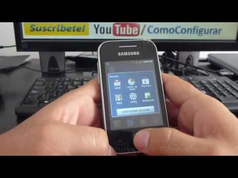 Cómo desinstalar las aplicaciones samsung galaxy Y S5360 español Full HD