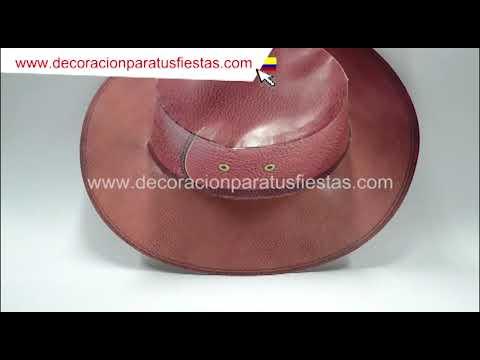 Sombrero de carton vaquero para la rumba o fiesta vaquera