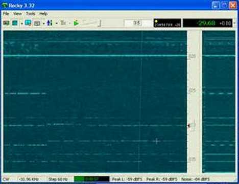 SDR Waterfall CW end of 40m
