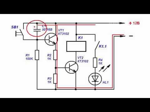 Реле времени на двух транзисторах своими руками