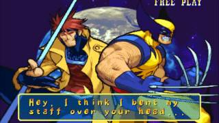 Marvel vs Capcom(Arcade)-Gambit/Wolverine Playthrough