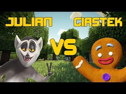 Król Julian vs Ciastek Minecraft Mini Games