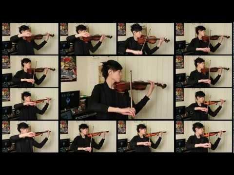 El tema principal de Skyrim interpretado con un par de violines
