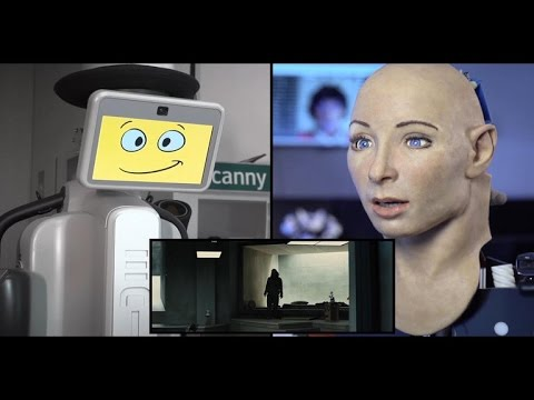 Robots react to scary trailer for horror movie 'Morgan'