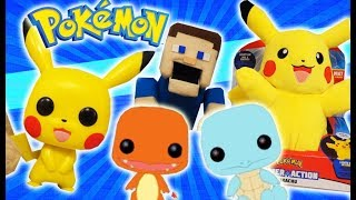 Pokemon Pikachu POP Funko, Pikachu Plush Target, Charmander & Squirtle First Look Power Action