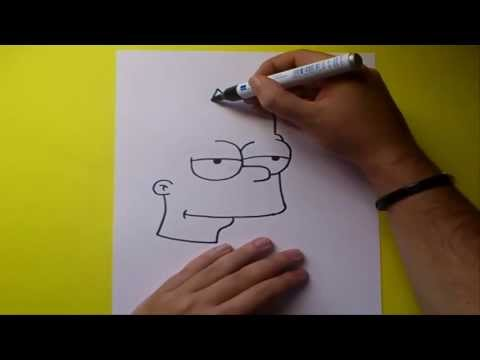 Como dibujar a Bart simpson paso a paso - Simpsons | How to draw Bart - The Simpsons