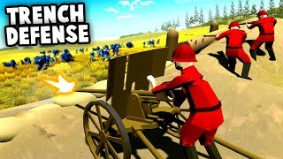 EPIC Trench Defense vs BANZAI Charge! (Ravenfield Best Custom Map)