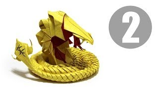 Part2/5 : How to fold Origami Devil Cobra / Hell Cobra 摺紙魔鬼眼鏡蛇教學