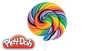 Learn Colors How to Make a Play Doh Lollipop RainbowLearning