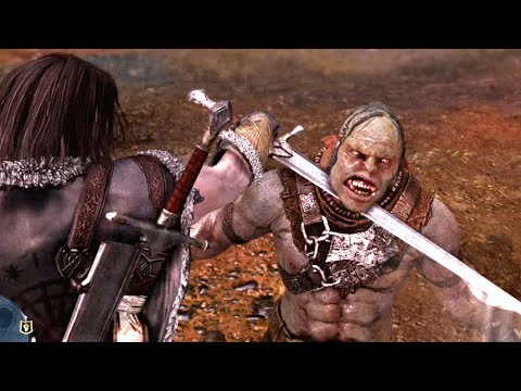 Middle-Earth Shadow of Mordor - Beheading a Uruk, Brutal Finishing Move!