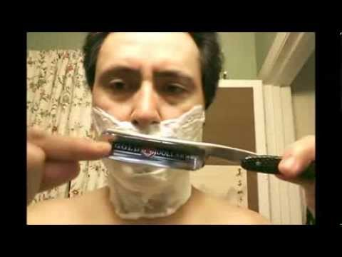 "Gold Dollar #208 6/8"" Straight Razor shave"