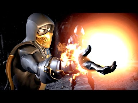 Mortal Kombat X GOLD Scorpion Brutalities Fatalities & Combat