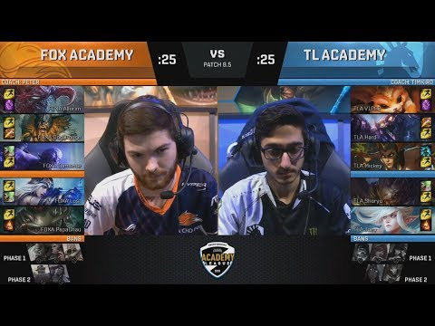 FOXA (Damonte Ryze) VS TLA (Shoryu Kogmaw) Game 1 Highlights - 2018 NA Academy Spring Semifinals