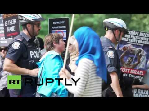 Canada: Pro-Palestine and pro-Israeli protesters square off in Toronto on Al-Quds Day